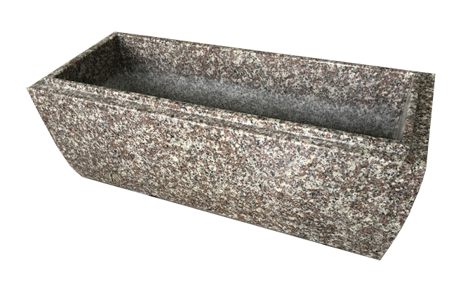 G664 Pink Granite Flower Planter