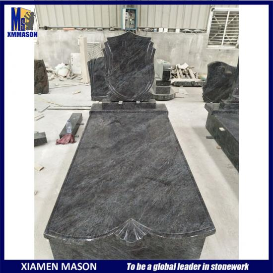 Bahama Blue Granite Tombstone