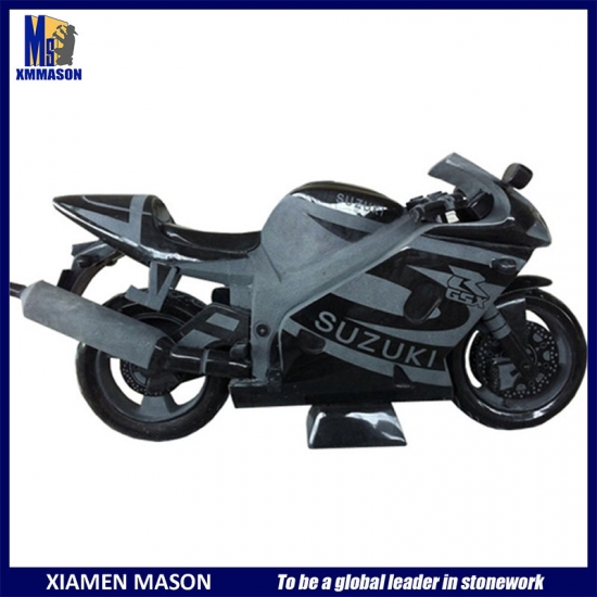 Hand Carved Motorcycle Sculpture