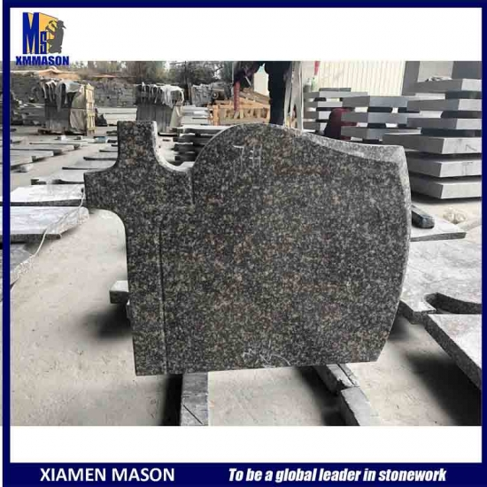Cross Carved Granite Headstone