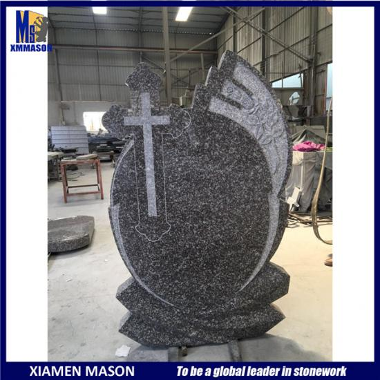 Cross Carved Cheap Granite Headstones