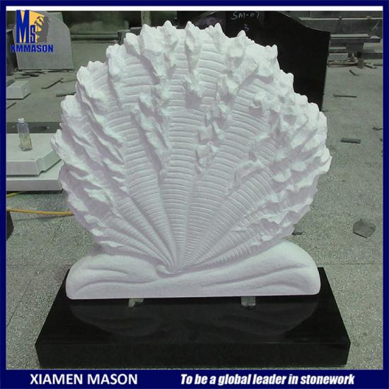 White Shell Shape Headstone