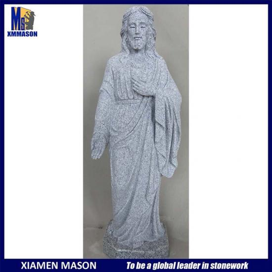 China Grey Granite Jesus Sculpture