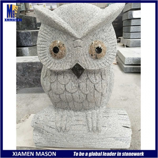 Small Granite Owl Statue